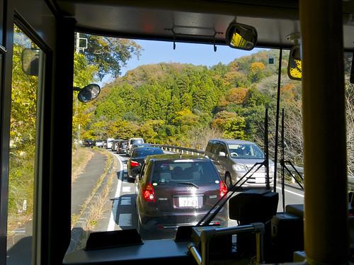 早速渋滞。