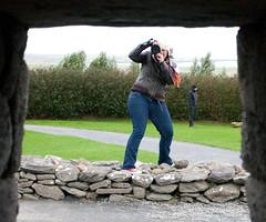 Bridie at the Gallarus Oratory, Dingle, Ireland.