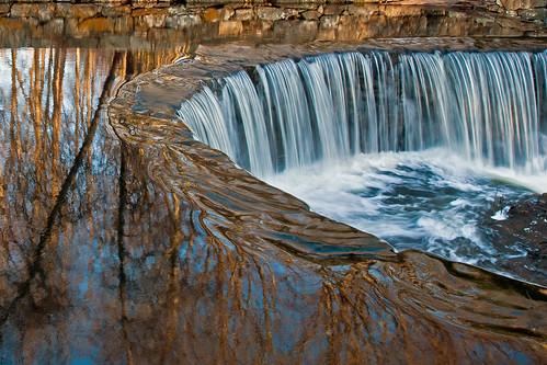 usa nature water reflections landscape waterfall connecticut ct serene southfordfallsstatepark southfordct