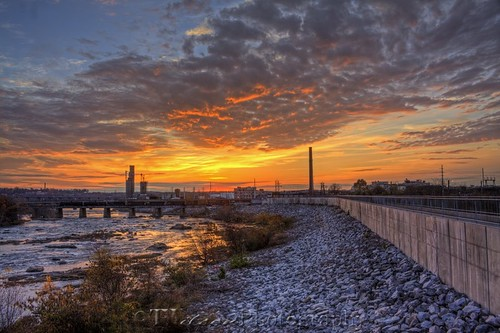 water clouds virginia richmond hdr jamesriver floodwall