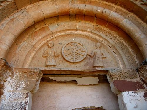 Alpanseque (Soria). Nuestra Señora de la Asunción. Tímpano portada sur