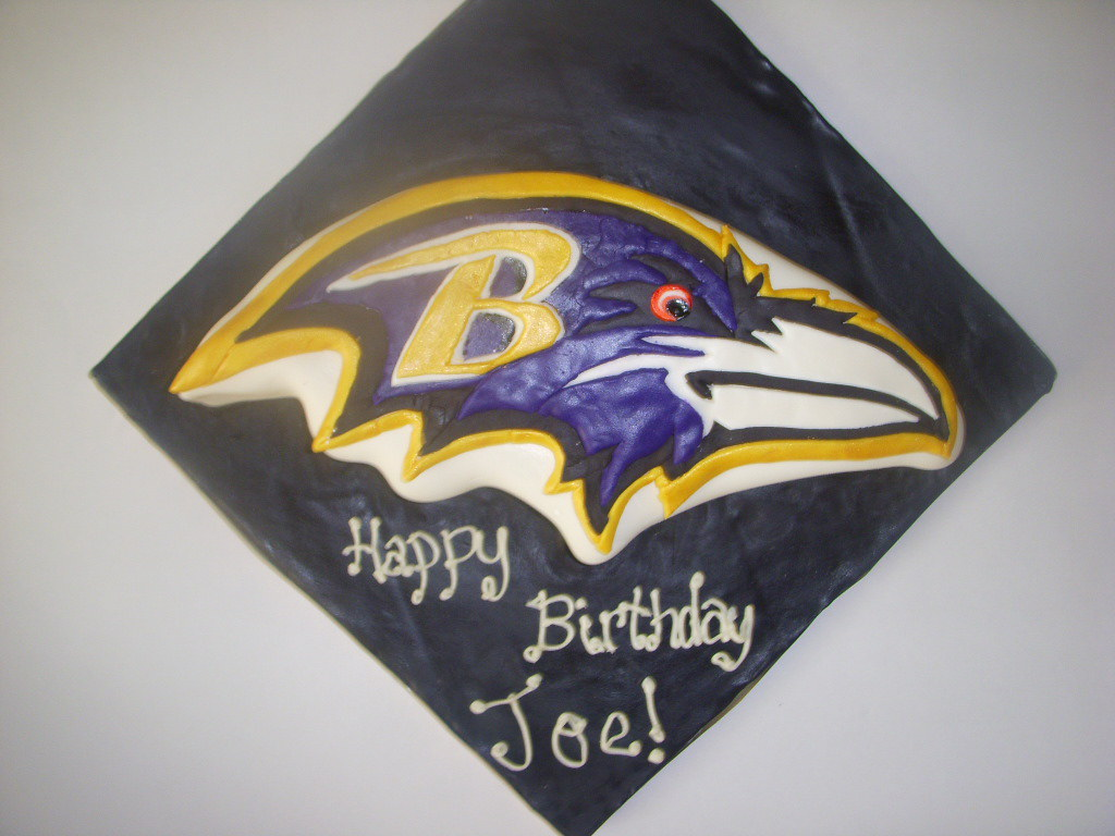 Fine Baltimore Ravens Birthday Cake I Made This One For My Brot Flickr Birthday Cards Printable Opercafe Filternl