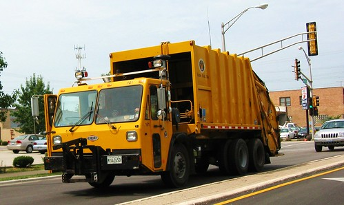 Eddie's Rail Fan Page: Eastbound yellow CCC garbage truck ...