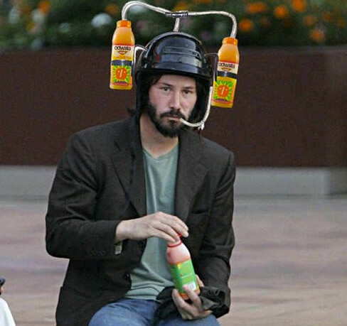 sad keanu reeves meme drink helmet flickr photo sharing