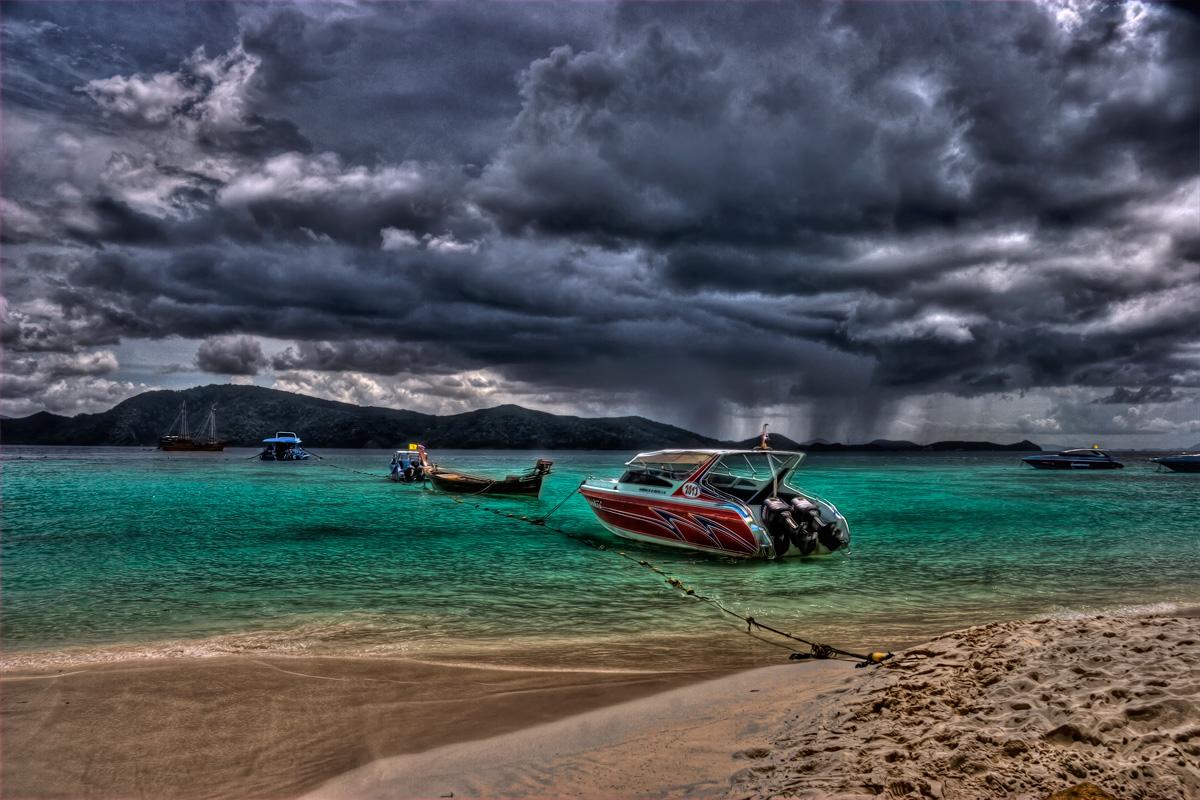 Storm Approaching Paradise - Coral Island, Phuket, Thailand  Flickr - Photo ...