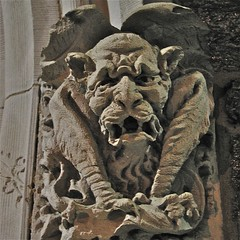 Grey Towers Castle (1893) – carved stone gargoyle