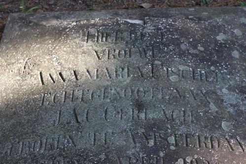Anna Fischer Gerlach's gravestone