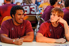 University of Montana Football Players at an Autograph Table