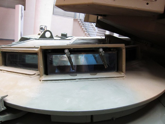 the hatch of driver's entrance of K2 tank