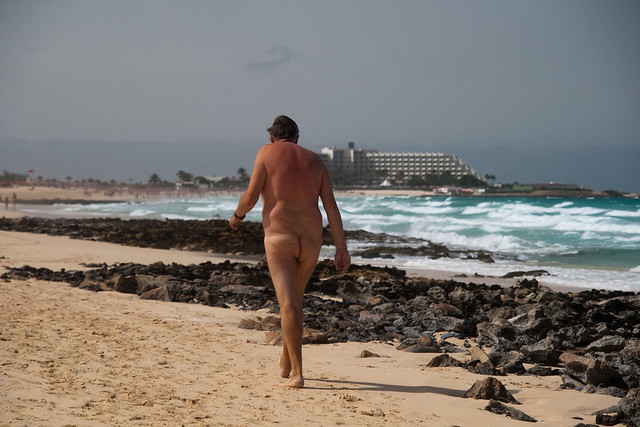 of some nudist guy's saggy