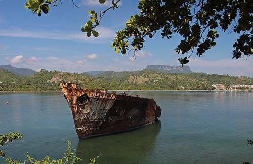 cuba shipwreck baracoa scheepswrak