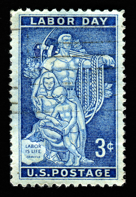 United States stamp: Labor Day from Flickr via Wylio
