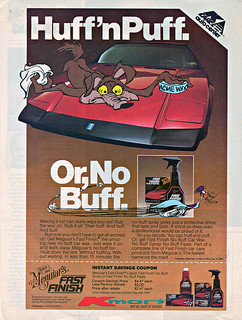 "MEGUIAR's 'FAST FINISH' No-Buff Car Wax :: ""Huff'n Puff."" (( 1983 ))"