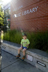 resting at our destination, the west linn public lib…