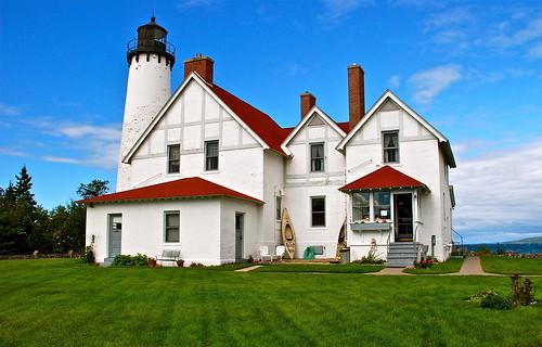 usa lighthouse up michigan fundrive pointiroquois