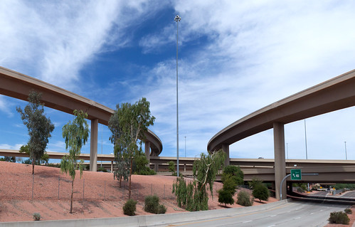 road bridge arizona phoenix highway ramp motorway overpass junction freeway infrastructure interstate sr interchange roadway carriageway spaghettijunction loop101 i17 interstate17 flyovers stateroute pimafreeway stateroute101 blackcanyonfreeway arizonastateroute101 aguafriafreeway arizonastateroute