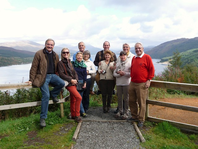 Tour Group at Loch Carron, Wester Ross, Scottish Highlands