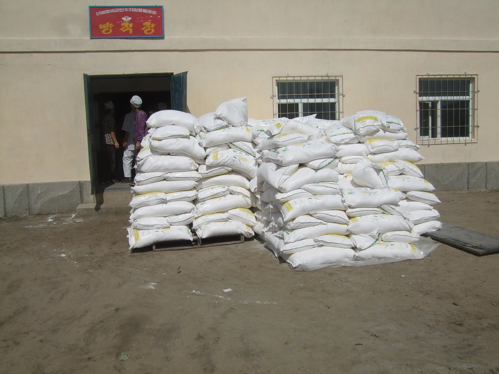Bags Of Flour At Sonbong Bakery Delivered From China Flickr
