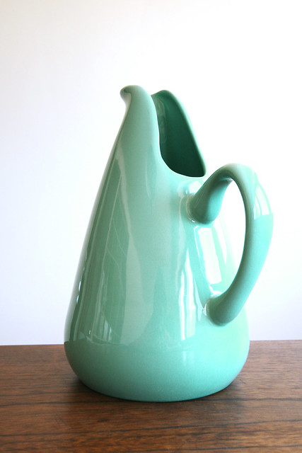 Russel wright american modern pitcher in turquoise flickr photo sharing - Russel wright pitcher ...