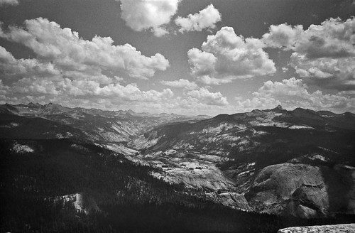 Merced River Valley from summit of Clouds Rest