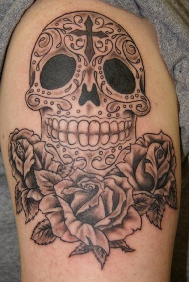 Sugar Skull Amp Roses Tattoo