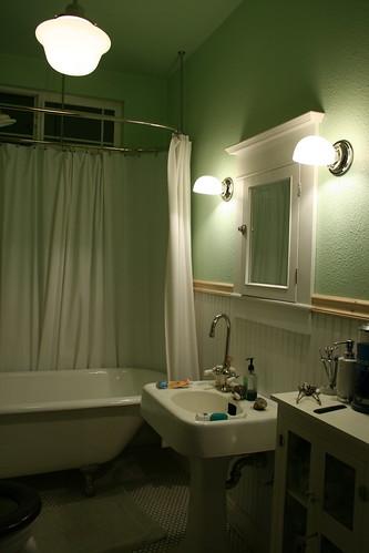 1915 craftsman bungalow bathroom wall sconces for 1915 bathroom photos