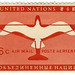 United Nations: bird of flight stamp