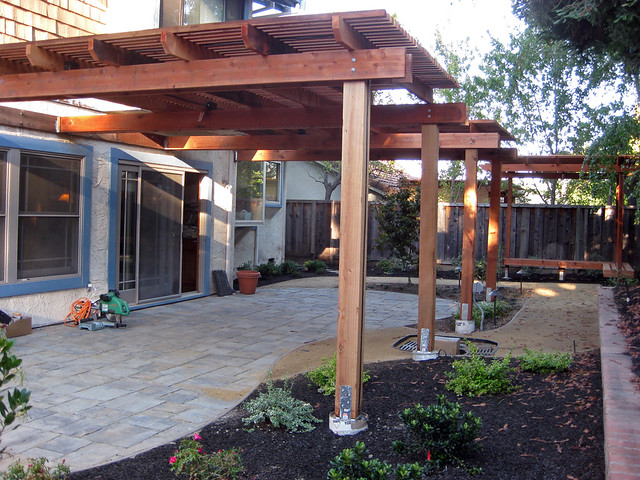 Back yard Patio and patio cover