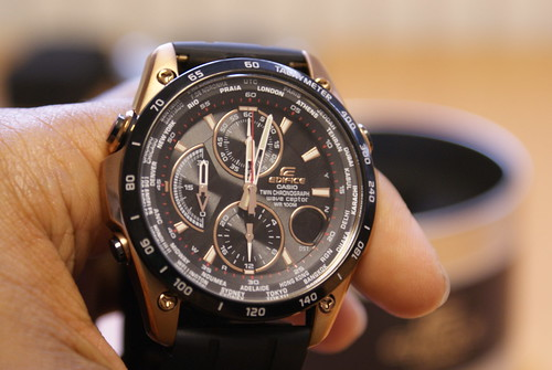Casio Edifice Waveceptor Chronograph Resin Strap Gents Watch EQW-500BE-1AVER