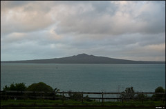 View on Rangitoto Island from the Michael Savage Memorial Park