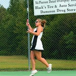 Morgan crushes a forehand shot against West Bladen