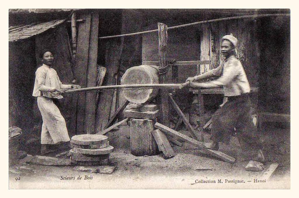 TONKIN - scieurs de bois