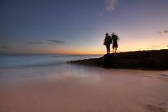 Waikiki Beach Silhouettes at Sunset