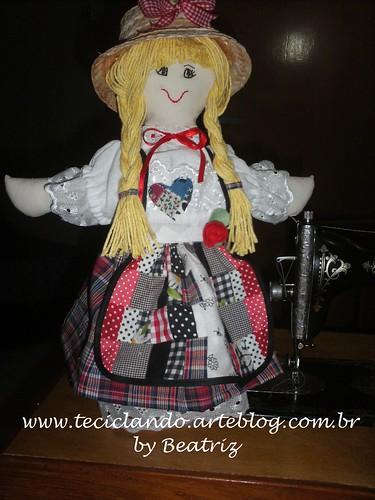 Téssy - boneca da Teciclando by Teciclando artes em tecidos