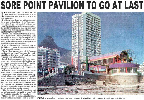 Sore Point Pavilion to go at Last