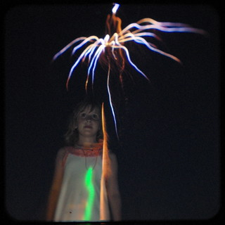 Lucy and fireworks