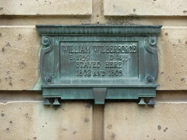 Photo of William Wilberforce bronze plaque