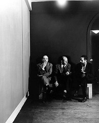 Barnett Newman, Jackson Pollock, and Tony Smith at the Betty Parsons Gallery, by Hans Namuth 1951