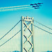 Blue Angels over the Bay Bridge, San Francisco Fleet Week