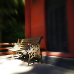 Photo:Bench in temple By kawabek