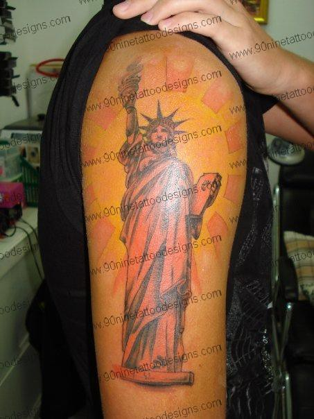statue of liberty tattoo 01 flickr photo sharing. Black Bedroom Furniture Sets. Home Design Ideas