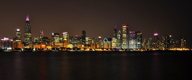 Chicago Skyline in Pink