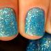 Blue Hawaiian, China Glaze; brilhinhos by milakury
