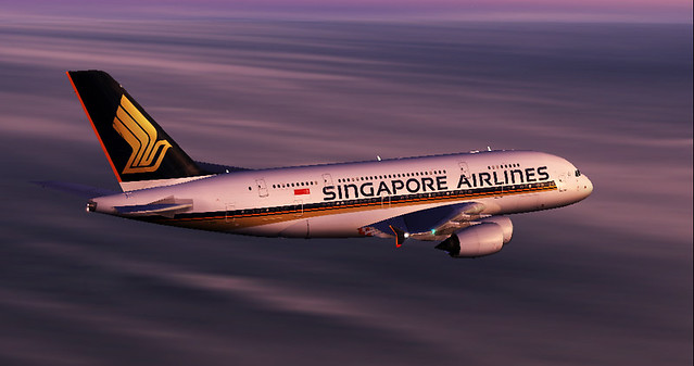Singapore A380 on its way home