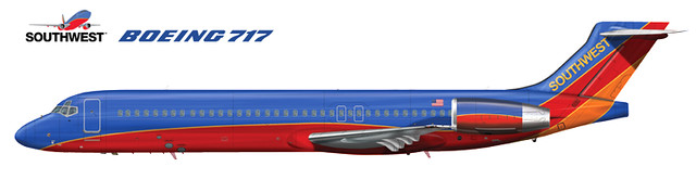 Southwest Airlines Boeing 717