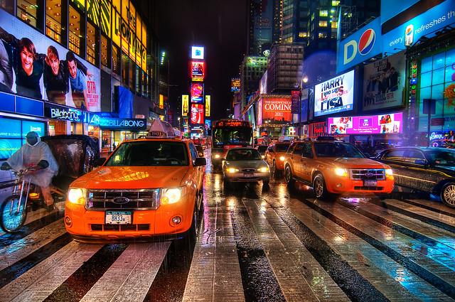 Times Square Rain Dance