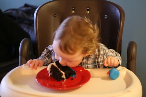 Henry eating cake