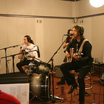 Joseph Arthur, Ben Harper and Dhani Harrison at WFUV, with Darren DeVivo in the interviewer's seat. (10/7/10)