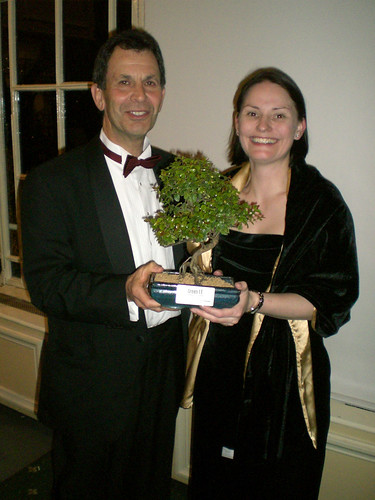 Helen Carpenter and Paul Druckman with the award