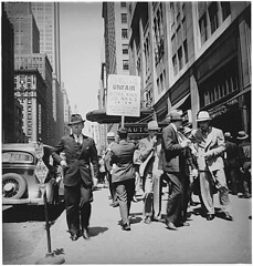 men picketing
